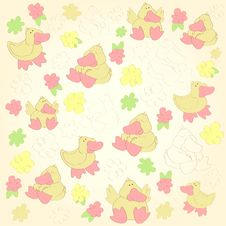 Background With The Duck Royalty Free Stock Image