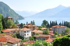 Menaggio Town At Italian Lake Como Stock Photos