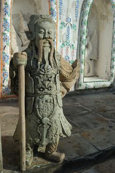 Chinese Stone Figure At Wat Arun Royalty Free Stock Photography