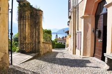 Street Of Menaggio Town At Como Lake Royalty Free Stock Images