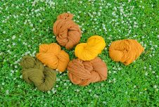Free Multicolored Yarns. Royalty Free Stock Image - 14792686