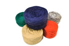 Colored Balls Of Yarn Royalty Free Stock Image