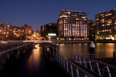 Apartment Living On The Waterfront. Stock Images
