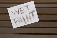 Free Wet Paint Sign Stock Photography - 14794982