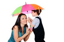 Free Mom And Her Young Royalty Free Stock Images - 14795199