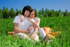 Free Boy And Girl On Grass Stock Image - 14795221
