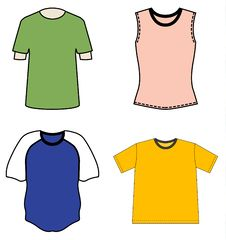 Free T-shirt Design Templates Stock Photography - 14795702