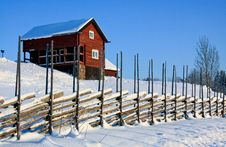 Old Red House. Royalty Free Stock Photography
