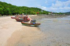 Boat At Beach, Sri Chang, Thailand Stock Image