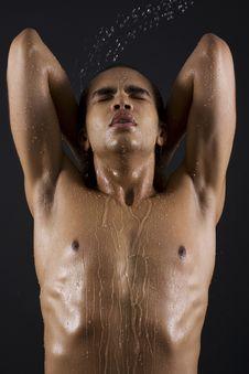 Free Men Enjoying The Shower Stock Photos - 14796963