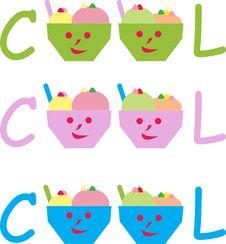 Free Cute Icecream Cups Stock Photography - 14799292