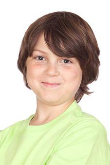 Funny Portrait Of Freckled Boy Stock Image