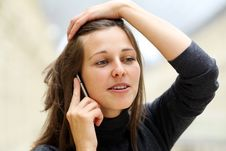Free Woman With Mobile Telephone Stock Photos - 14799633