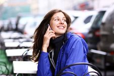 Free Woman With Mobile Telephone Royalty Free Stock Images - 14799669