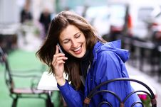 Free Woman With Mobile Telephone Royalty Free Stock Photography - 14799677