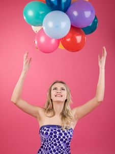 Free Woman With Balloons Stock Photo - 14799800