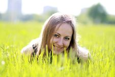 Free Woman On The Green Grass Royalty Free Stock Photo - 14799955