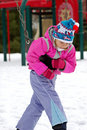 Free Little Girl On Playground Royalty Free Stock Photography - 1484027