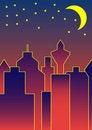 Free Skyline By Night Stock Photography - 1484382