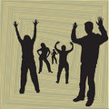 Free Dancing Silhouettes Stock Photography - 1486112