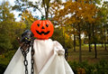 Free Halloween Pumpkin Head Ghost-1 Royalty Free Stock Images - 1487819