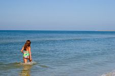 Free Little Girl In Ocean Royalty Free Stock Photo - 1480715