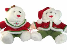 Christmas Bears With Candles Stock Images