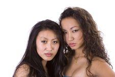 Beautiful Asian-American Models Looking Angry Stock Photos