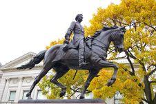 Free Civil War General On Horseback Stock Image - 1483001