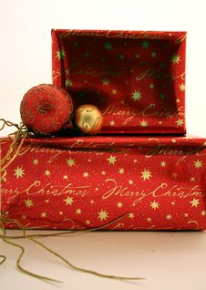 Free Christmas Presents Series 1 - Boxes And Ornaments1 Stock Photo - 1483300