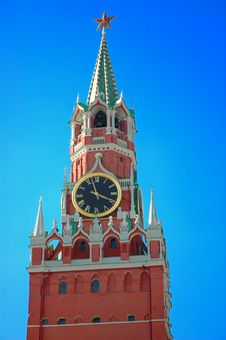 Red Square In Moscow In The Blue Sky. Royalty Free Stock Photo