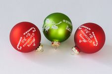 Free Christmas Balls Royalty Free Stock Photo - 1483855