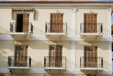 Free Six Balconies Royalty Free Stock Photos - 1485598