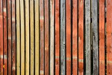 Free Color Wooden Fence Stock Photography - 1486262