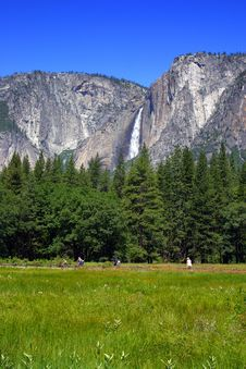 Yosemite Falls, Yosemite National Park Royalty Free Stock Image