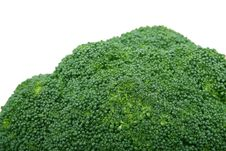 Free Fresh Green Vegetable, Isolated Over White Royalty Free Stock Photos - 1486868