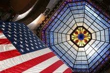 Free Flag And Stained Glass Stock Photo - 1487710