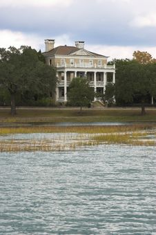 Mansion On The Water Royalty Free Stock Photo