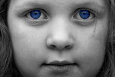 Young Girl With Blue Eyes Stock Photos