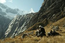 Free Hiker In The Cordilleras Mountain Stock Photography - 1488702
