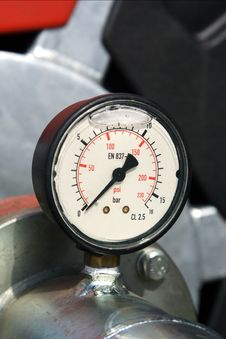 Free Pressure Gauge Royalty Free Stock Photo - 1488925