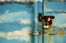 Free Storage Locker Lock Stock Image - 1489521