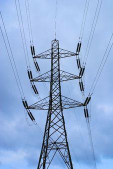 Free Electricity Pilon Silhoutte Royalty Free Stock Photo - 1489855