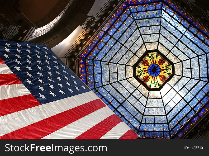 Flag and stained glass