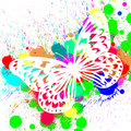 Free Butterfly From Color Splashes Royalty Free Stock Images - 14800099