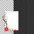 Free Card With Flowers Polka Dot Background Royalty Free Stock Photo - 14802815