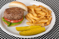 Free Burger And Fries Stock Images - 14805134