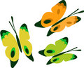 Free Three Colorful Butterflies  Icon Set Royalty Free Stock Photography - 14805507