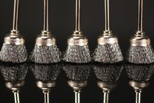 Free Metal Brushes Royalty Free Stock Photography - 14800527