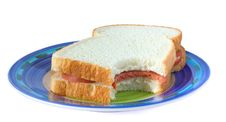 Free Sandwich With Sausage On A Plate Stock Photos - 14800683